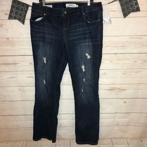 Torrid Boot Cut Ripped Stretch Jeans Size 14R